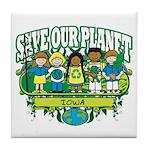 Earth Kids Iowa Tile Coaster