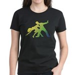 Rainbow Dancer Silhouettes Women's Dark T-Shirt