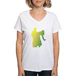 Rainbow Dancer Silhouettes Women's V-Neck T-Shirt