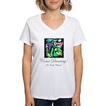 Night Dancing Women's V-Neck T-Shirt