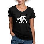 Dancer Silhouettes #1 Women's V-Neck Dark T-Shirt