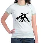 Dancer Silhouettes #1 Jr. Ringer T-Shirt