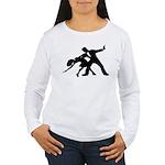 Dancer Silhouettes #1 Women's Long Sleeve T-Shirt