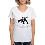 Dancer Silhouettes #1 Women's V-Neck T-Shirt