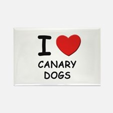 I love CANARY DOGS Rectangle Magnet