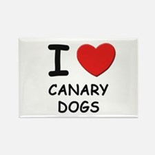 I love CANARY DOGS Rectangle Magnet (10 pack)