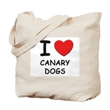 I love CANARY DOGS Tote Bag