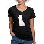 Dancer Silhouettes #2 Women's V-Neck Dark T-Shirt