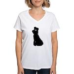 Dancer Silhouettes #2 Women's V-Neck T-Shirt