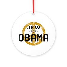Jew for Obama Ornament (Round)