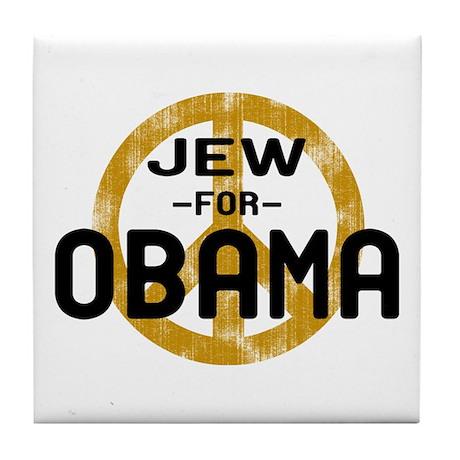 Jew for Obama Tile Coaster