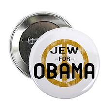 """Jew for Obama 2.25"""" Button"""