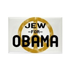 Jew for Obama Rectangle Magnet