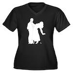 Dancer Silhouettes #3 Women's Plus Size V-Neck Dar