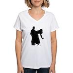 Dancer Silhouettes #3 Women's V-Neck T-Shirt
