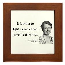 Eleanor Roosevelt 6 Framed Tile