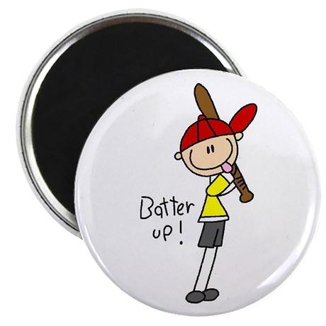"""Boy Baseball Outfielder 2.25"""" Magnet (10 pack"""
