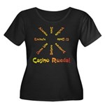 Casino Rueda Salsa Women's Plus Size Scoop Neck Da