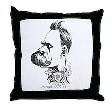 Nietzsche Throw Pillow