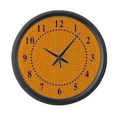 Rough Orange 03 Large Wall Clock