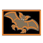 Halloween Bat Postcards (Package of 8)