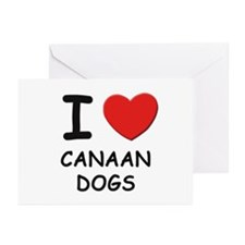 I love CANAAN DOGS Greeting Cards (Pk of 10)
