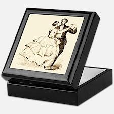 Old-time Ballroom Dancers Keepsake Box