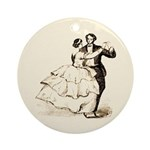 Old-time Ballroom Dancers Ornament (Round)