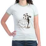 Old-time Ballroom Dancers Jr. Ringer T-Shirt
