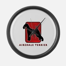 Airedale Terrier Large Wall Clock