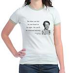 Eleanor Roosevelt 7 Jr. Ringer T-Shirt