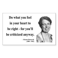 Eleanor Roosevelt 7 Rectangle Decal