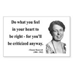Eleanor Roosevelt 7 Rectangle Sticker