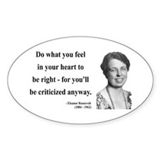 Eleanor Roosevelt 7 Oval Decal