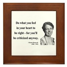 Eleanor Roosevelt 7 Framed Tile