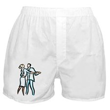 Casual Ballroom Dancers Boxer Shorts