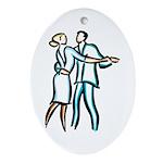 Casual Ballroom Dancers Ornament (Oval)