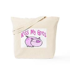 Kiss My Grits Tote Bag