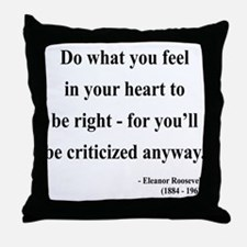 Eleanor Roosevelt 7 Throw Pillow