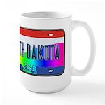 South Dakota Rainbow State Large Mug