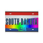 South Dakota Rainbow State Rectangle Magnet (10 pa