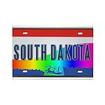 South Dakota Rainbow State Rectangle Magnet (100 p