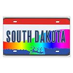 South Dakota Rainbow State Sticker (Rectangle)