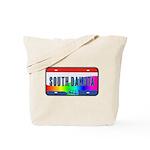 South Dakota Rainbow State Tote Bag