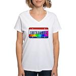 South Dakota Rainbow State Women's V-Neck T-Shirt