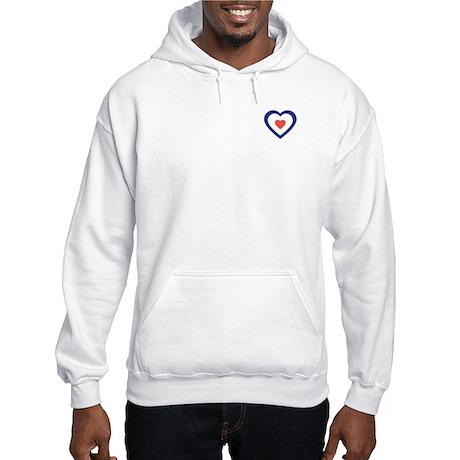 Mod Target Heart Hooded Sweatshirt