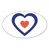 Target heart sticker Single