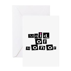 Maid of Honor (Square) Greeting Card