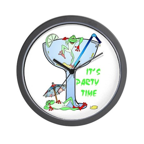 Frog-arita Wall Clock