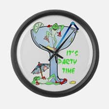 Frog-arita Large Wall Clock